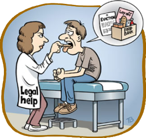 illustration of doctor giving check-up